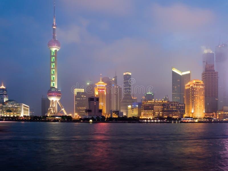 De mening van Shanghai over gebied Pudong royalty-vrije stock foto