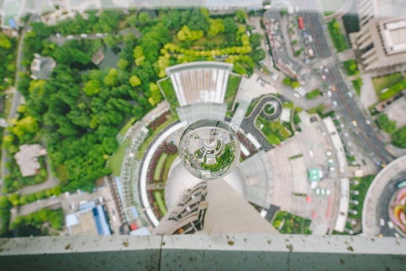 De mening van Shanghai van het Oosterse Parelgebouw royalty-vrije stock afbeelding