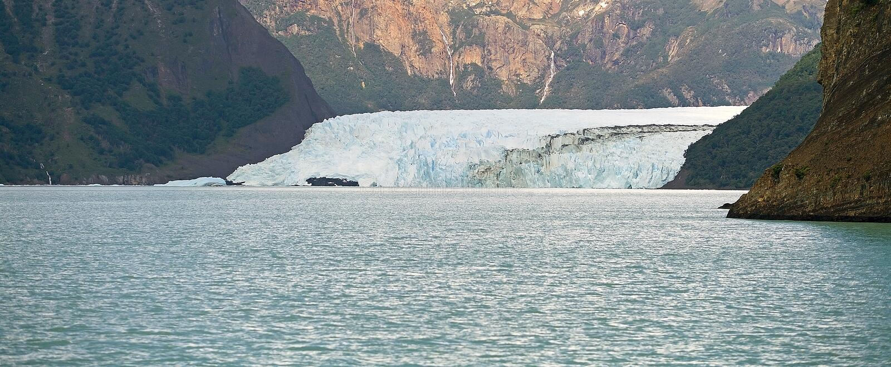 De mening van de Spegazzinigletsjer van Argentino Lake, Argentinië stock fotografie