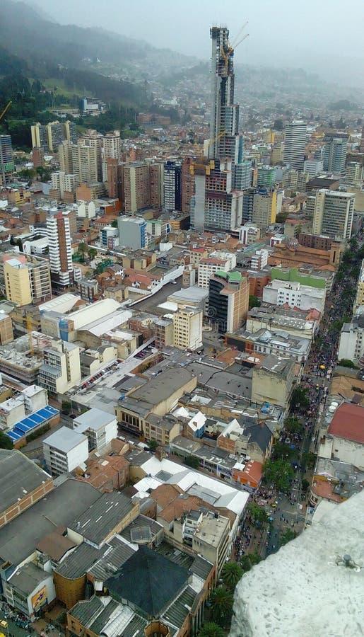 De mening van de stad Bogotà ¡ stock afbeelding