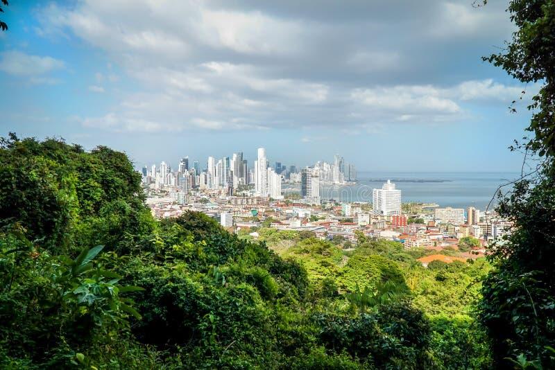 De Mening van de Stad van Panama royalty-vrije stock afbeelding