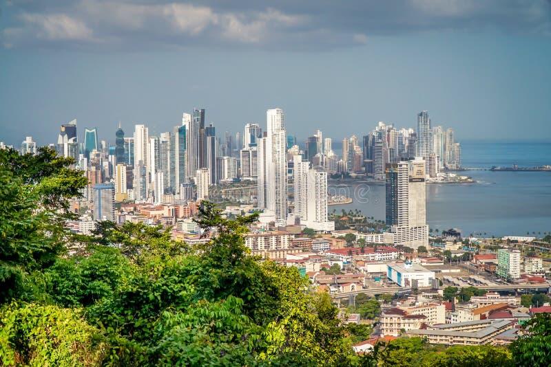 De Mening van de Stad van Panama stock foto's