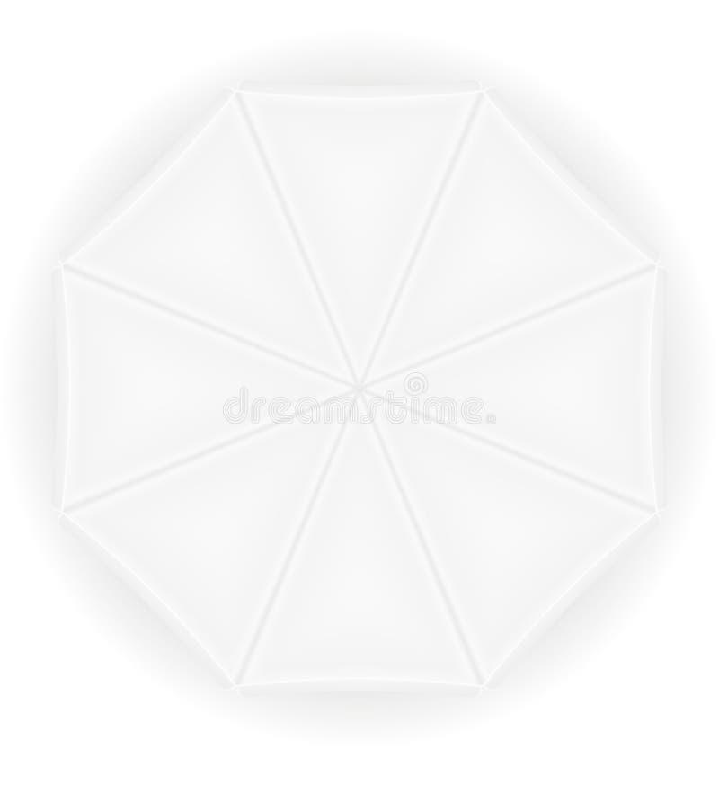 De mening van de strandparaplu van hoogste voorraad vectorillustratie stock illustratie