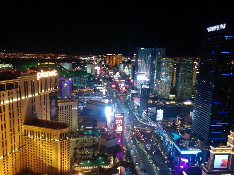 De mening van de de Strooknacht van Las Vegas, Zuidenlichten royalty-vrije stock afbeelding