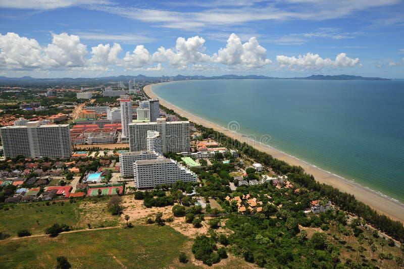 De mening van Thailand van baai Jomtien en Pattaya royalty-vrije stock fotografie