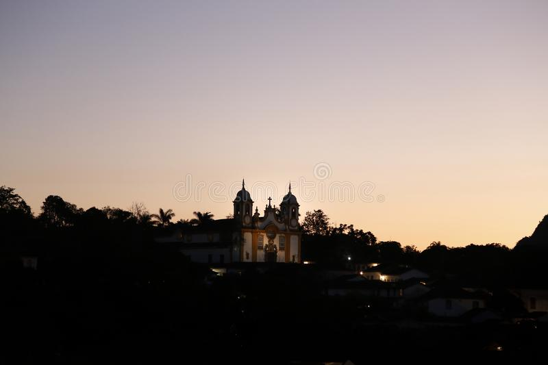 De Mening van Tiradentesmg van Igreja Matriz DE Santo Antonio royalty-vrije stock foto's