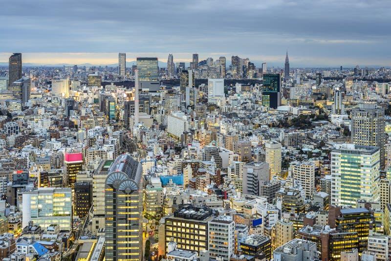 De Mening van Tokyo, Cityscape van Japan stock fotografie