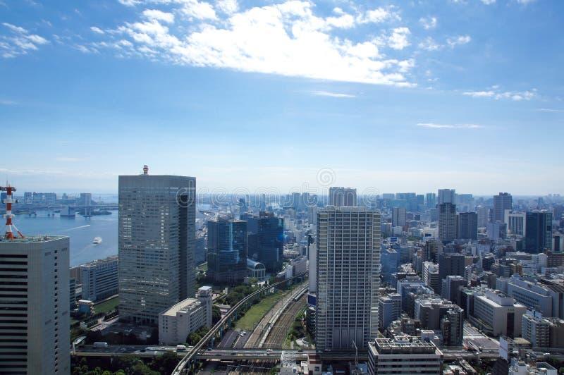 De mening van Tokyo van het handelscentrum van de Wereld stock afbeelding