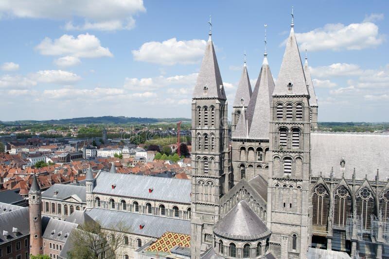 De mening van Tournai royalty-vrije stock afbeelding