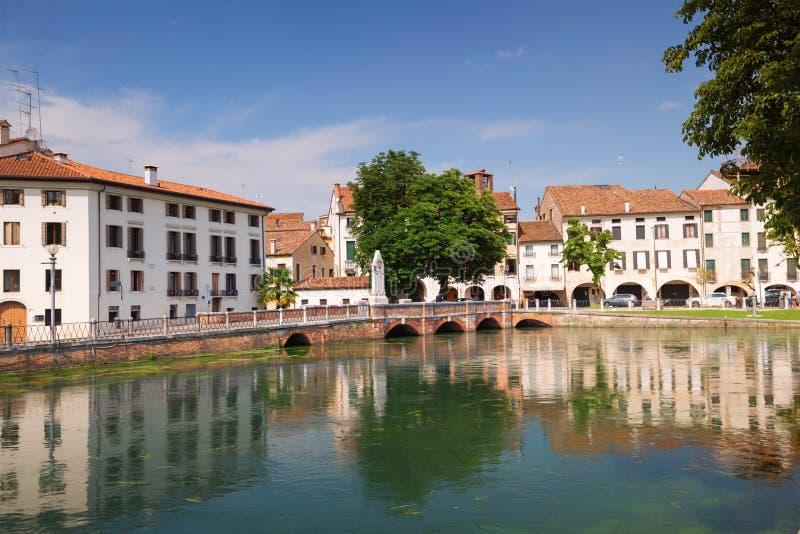 De mening van Treviso/van de Stad van de waterkant royalty-vrije stock foto