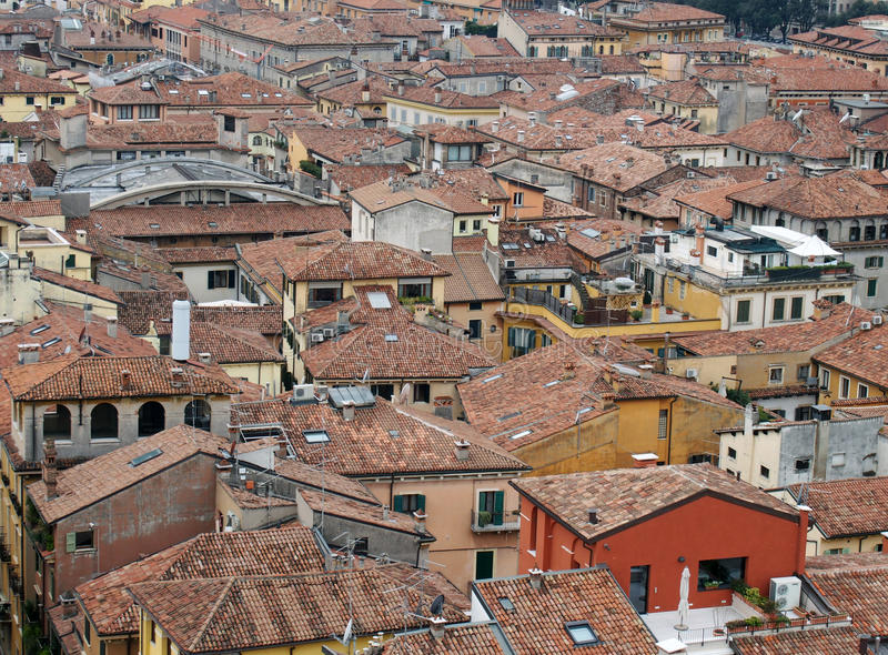 De mening van Verona van Stad royalty-vrije stock foto's