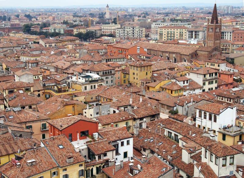 De mening van Verona van Stad royalty-vrije stock afbeeldingen