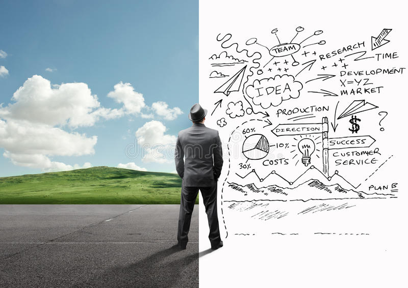 De mening van zakenmanClear en bezige Mening stock fotografie