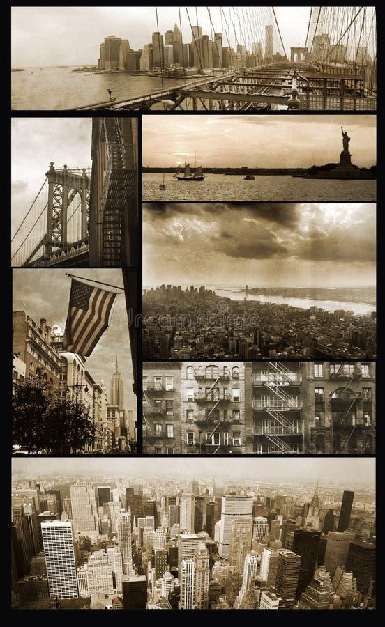 De meningen van Manhattan over grunge royalty-vrije stock afbeelding