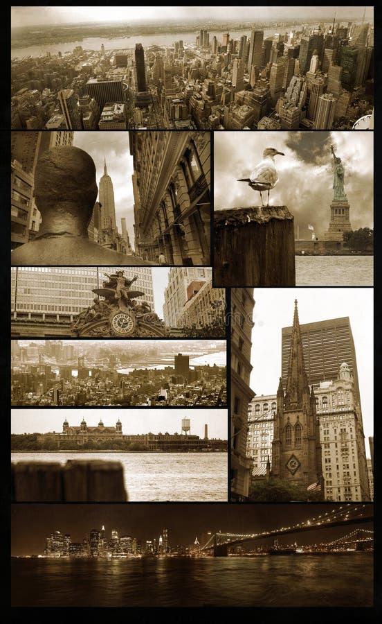 De meningen van Manhattan over grunge royalty-vrije stock afbeeldingen