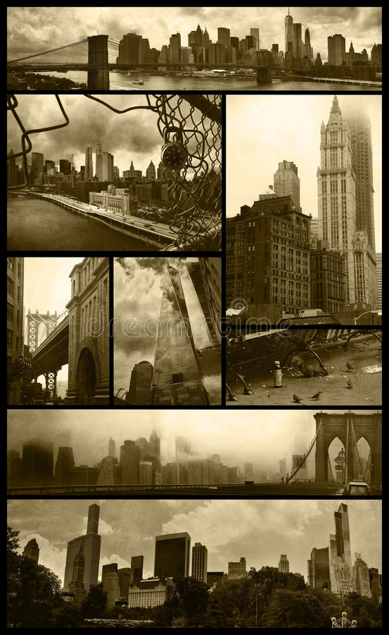 De meningen van Manhattan over grunge royalty-vrije stock fotografie