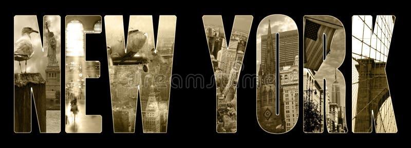 De meningen van Manhattan over New York stock foto