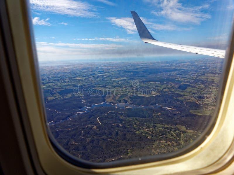 De menings Australisch landschap van het vliegtuigvenster royalty-vrije stock fotografie