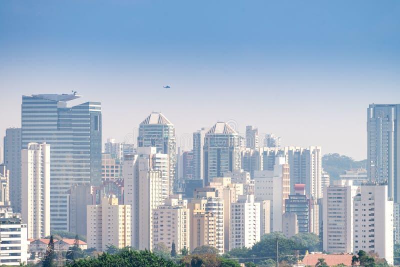 De menings grootste stad van Sao Paulo in Latijns-Amerikaans royalty-vrije stock foto's
