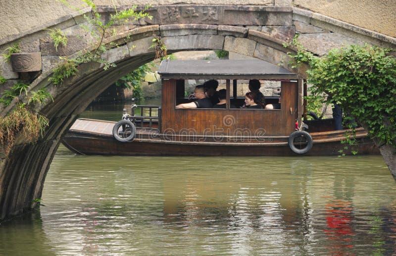 De Meningsboot van het Oosten van de Wuzhenstad stock foto's