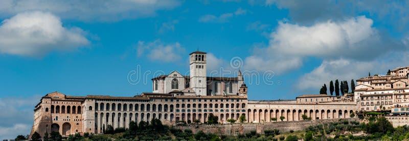 De meningscityscape van Assisi van gebieden stock afbeelding