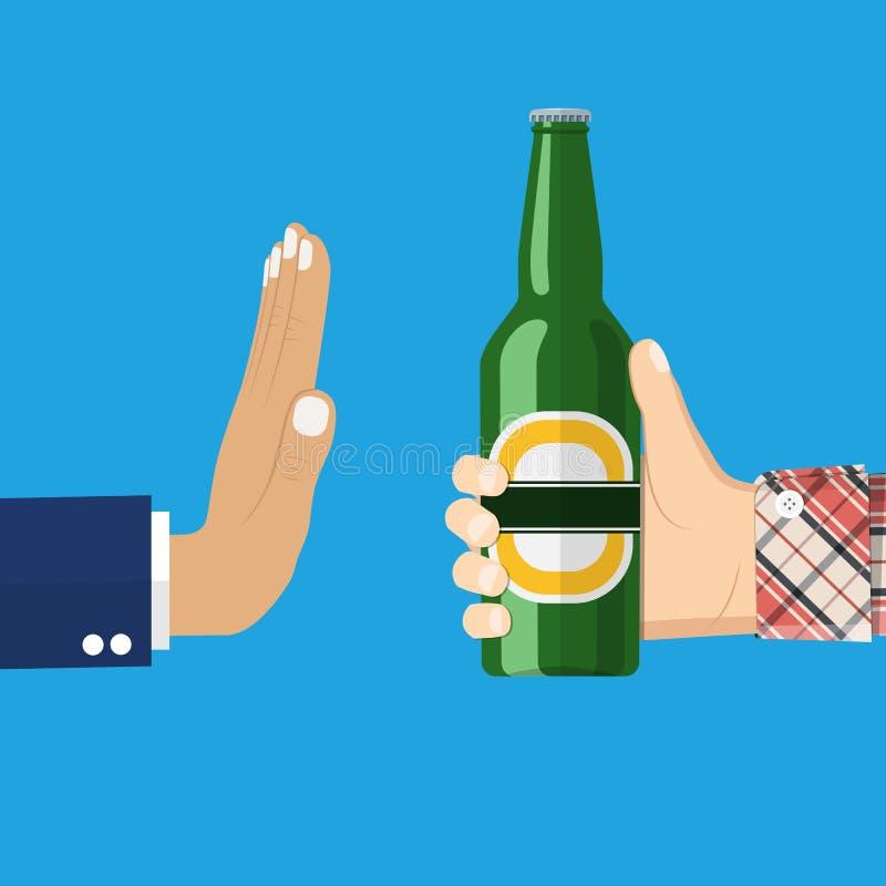 De mens biedt te drinken aan vector illustratie