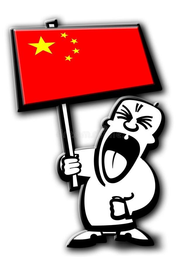 De mens China van het protest royalty-vrije stock afbeeldingen