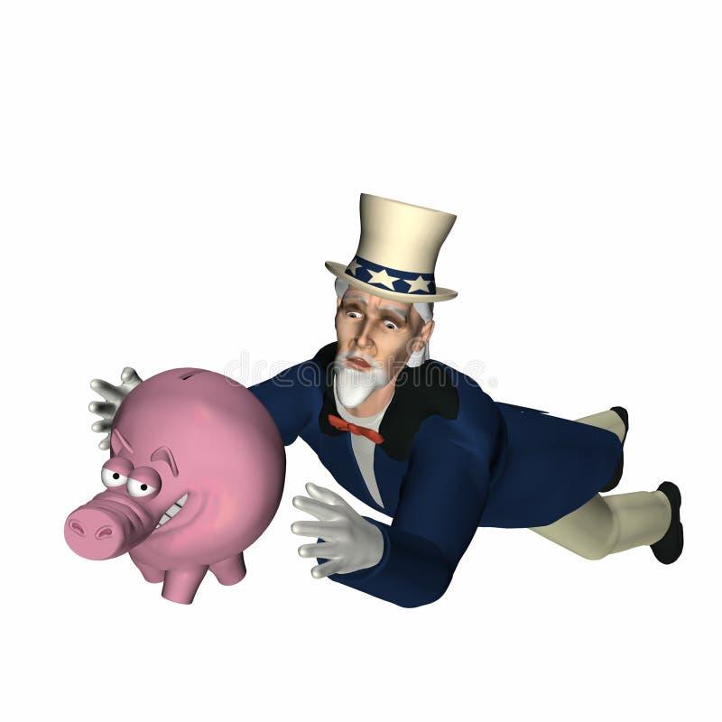 De Mens Cometh 6 van de belasting royalty-vrije illustratie