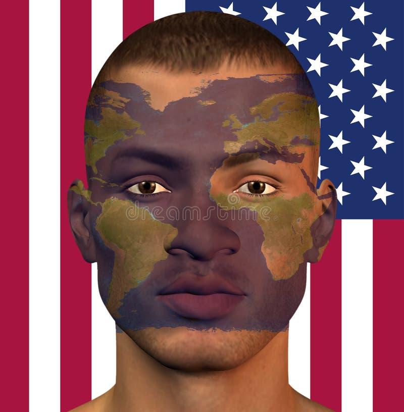 De Mens de V.S. van de wereld stock illustratie
