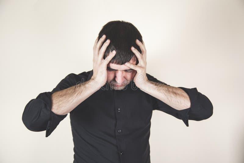 De mens dient hoofd in royalty-vrije stock foto