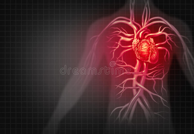 De mens houdt voor hart stock illustratie