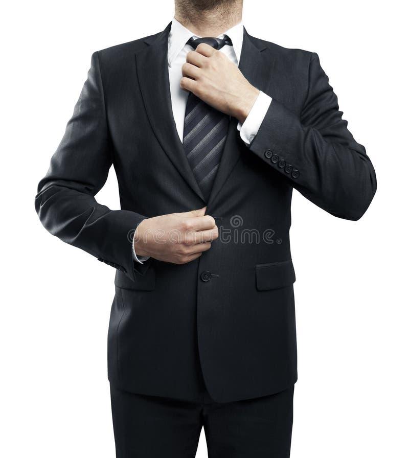 De mens past band aan royalty-vrije stock afbeelding