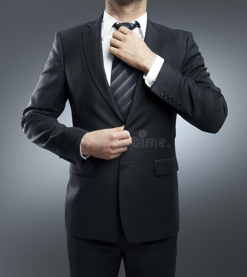 De mens past band aan royalty-vrije stock foto