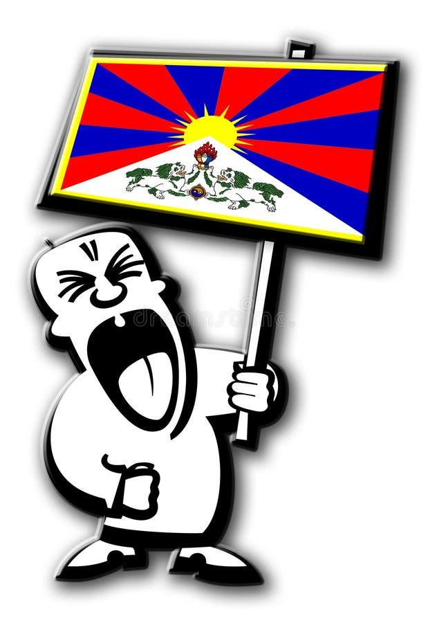 De mens Tibet van het protest stock afbeelding