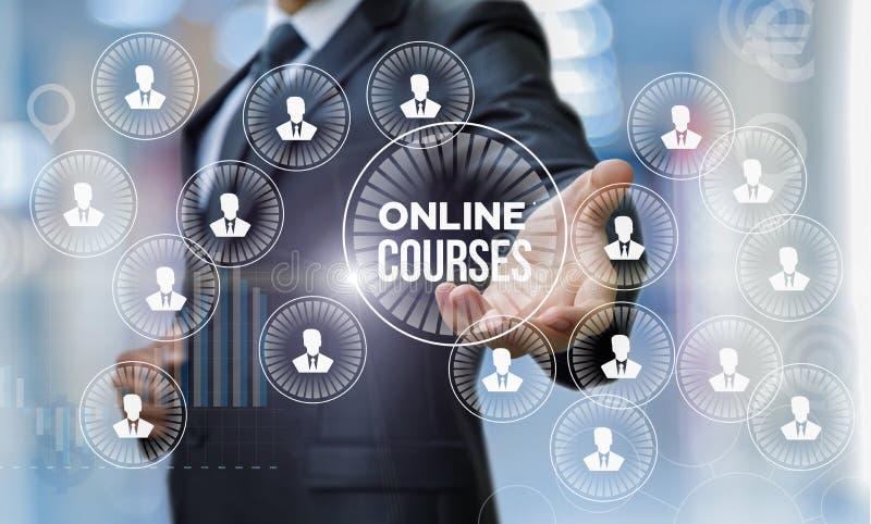 De mens toont online cursussen stock illustratie