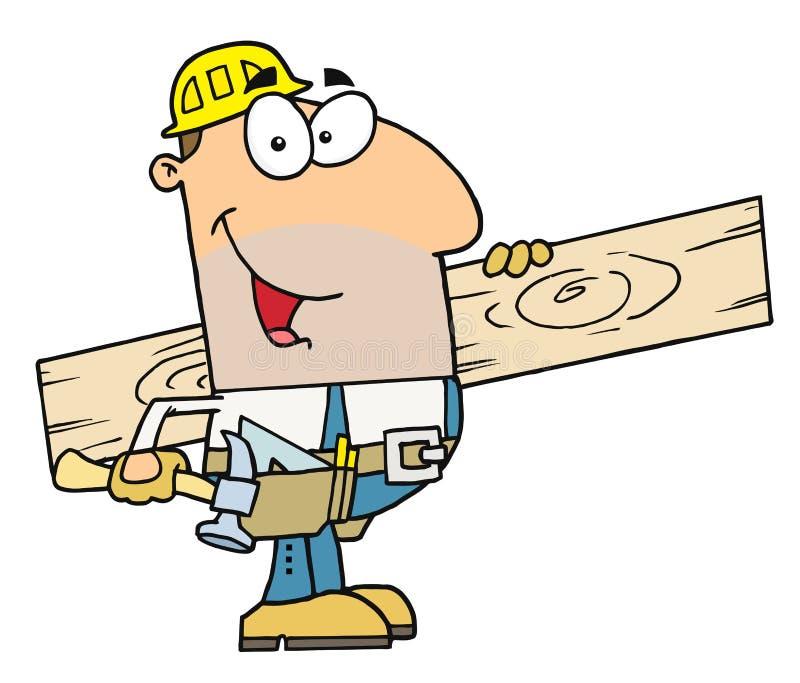 De mens van de arbeider royalty-vrije illustratie