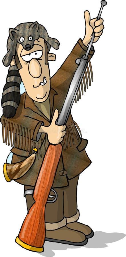 Download De mens van de berg stock illustratie. Illustratie bestaande uit geweer - 47738