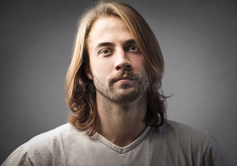De mens van de blonde royalty-vrije stock fotografie