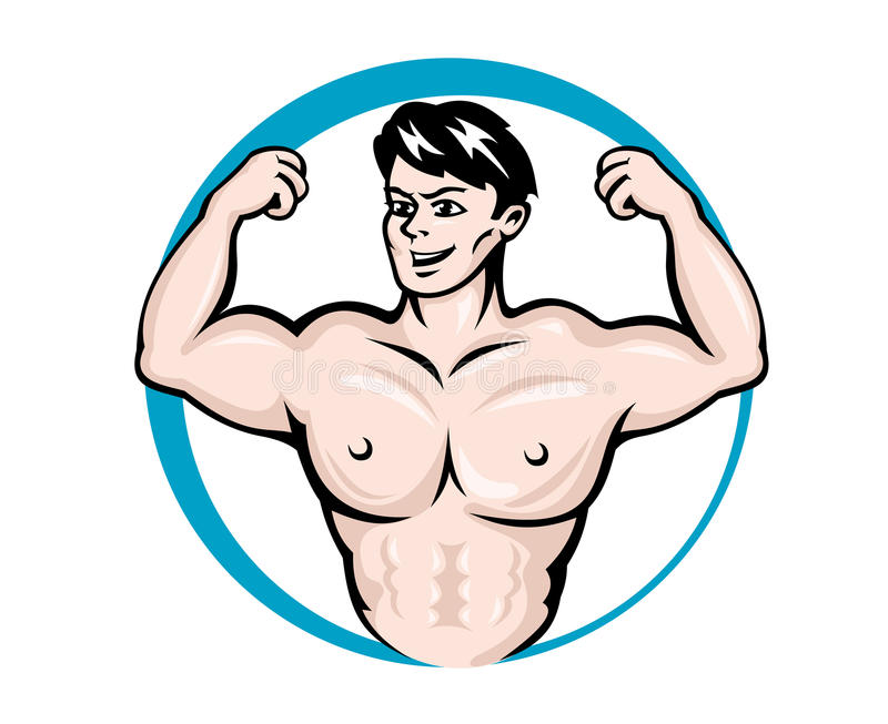 De mens van de bodybuilder stock illustratie