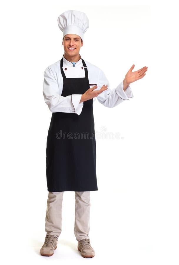 De mens van de chef-kok stock afbeeldingen