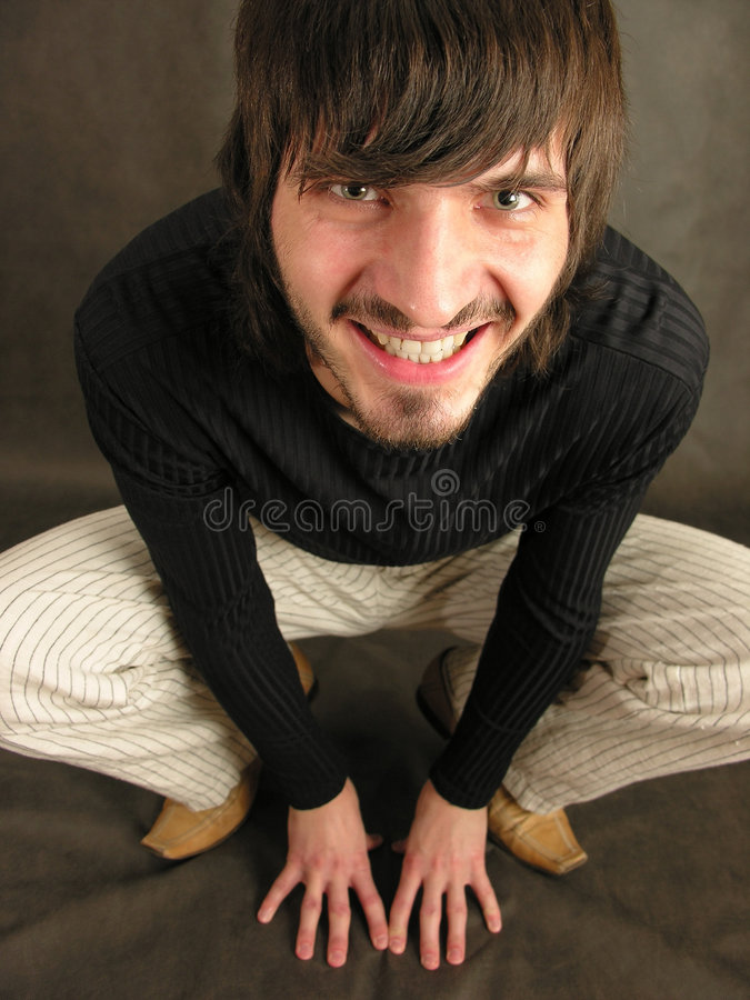 De mens van de glimlach royalty-vrije stock foto