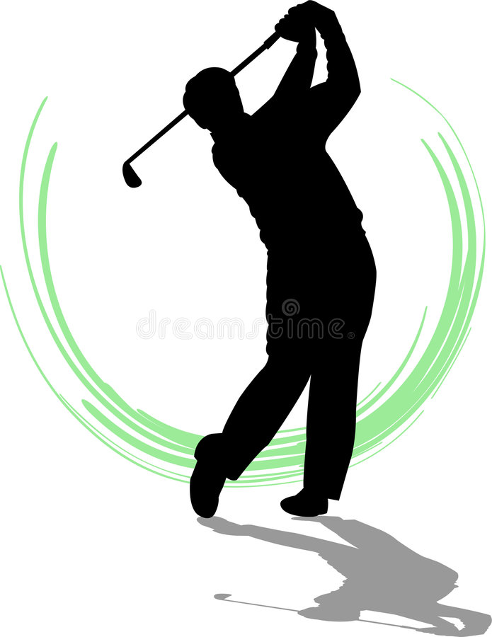 De Mens van de golfspeler/eps royalty-vrije illustratie