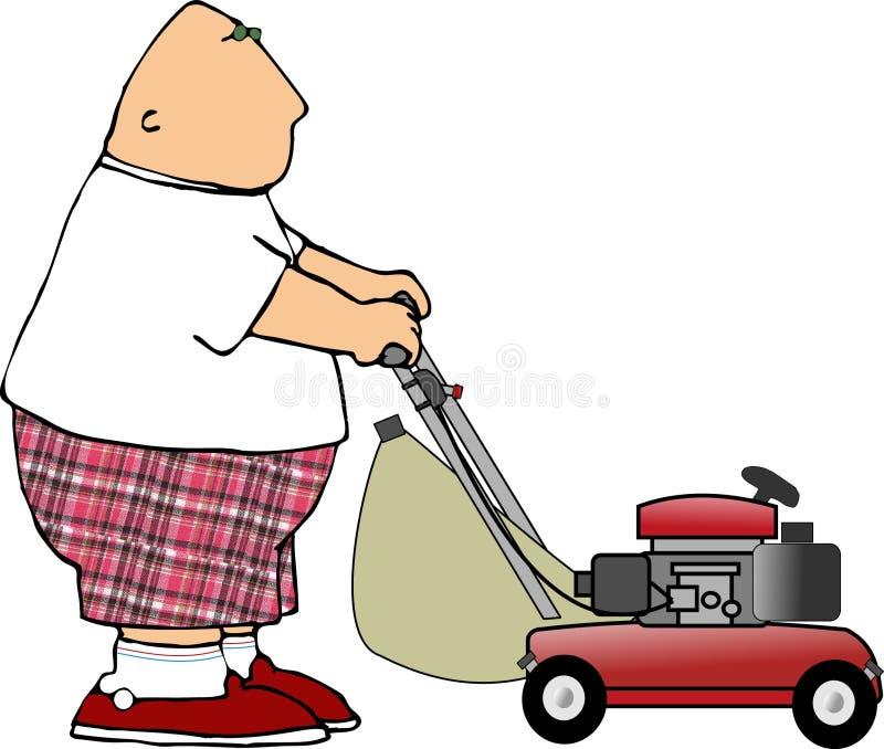 De mens van de grasmaaier vector illustratie