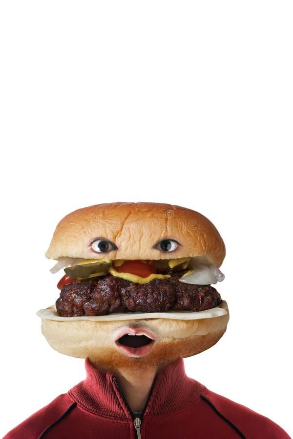 De Mens van de hamburger royalty-vrije stock fotografie