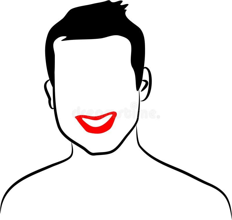 De Mens van de lijn vector illustratie