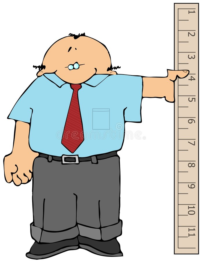 De Mens van de maatregel stock illustratie