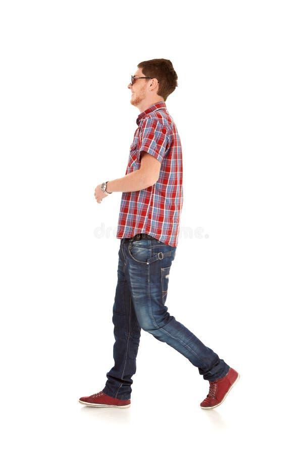 De mens van de manier het lopen stock afbeeldingen