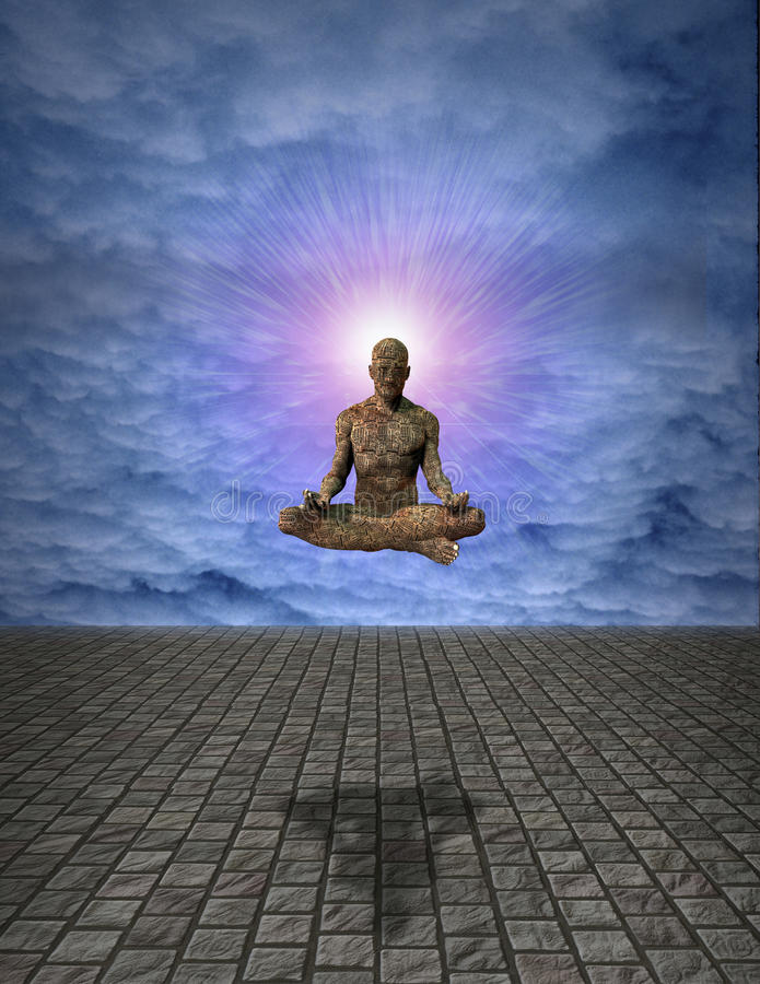 De Mens van de meditatie stock illustratie