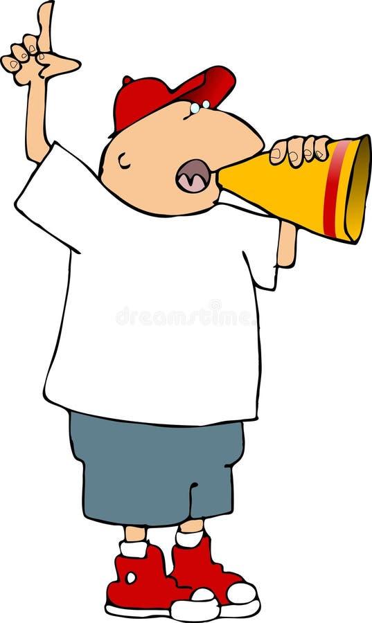 De mens van de megafoon stock illustratie