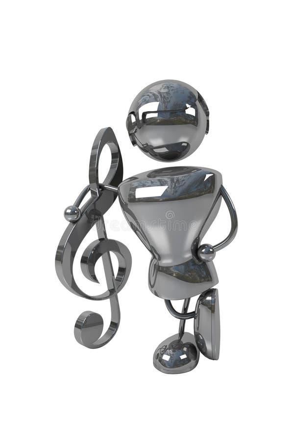 De mens van de muziek stock illustratie